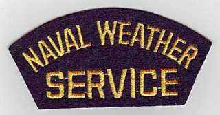 NAVAL WEATHER SERVICE   U.S. NAVY CAP PATCH