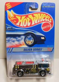 HOT WHEELS 1995 #322 SILVER SERIES FIRE EATER 7SP VARIATION MINT ON