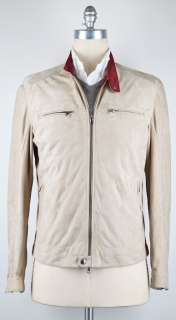 New $3455 Brunello Cucinelli Beige Jacket Large/Large