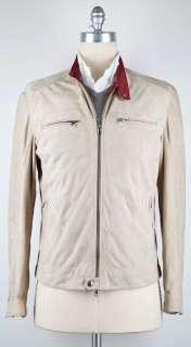 New $3455 Brunello Cucinelli Beige Jacket Large/Large