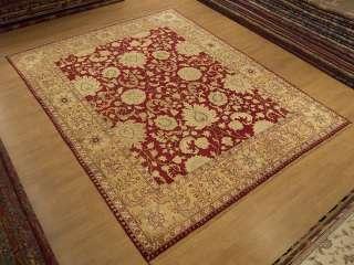 Vegetable Dye Hand Spun Silk Wool Sultanabad Chobi Room Size Rug