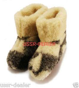 GENUINE SHEEP WOOL SLIPPERS BOOTS MENS WARM NEW