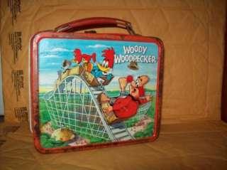 METAL VINTAGE ALADDIN WOODY WOODPECKER 1972 LUNCH BOX