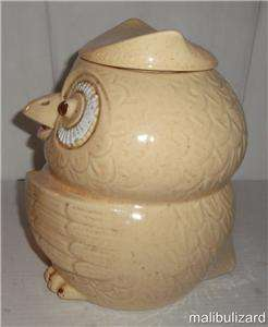 VINTAGE MCCOY WOODSY OWL COOKIE JAR AS IS