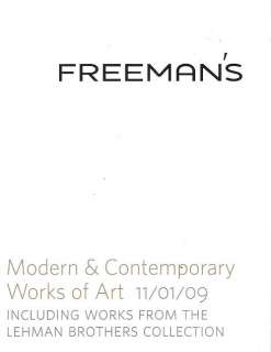 Freemans Modern Contemporary Art Lehman Brothers 2009