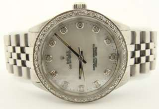 Ladies Rolex Oyster Perpetual SS Diamond Datejust Watch