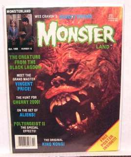 Oct 1986 MONSTER LAND Magazine CREATURE BLACK LAGOON