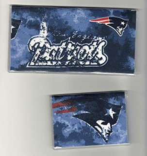 Checkbook Cover Debit Set w New England Patriots Fabric