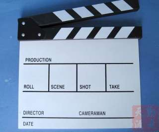 NEW white Clapper board Directors TV Movie Slate Cut