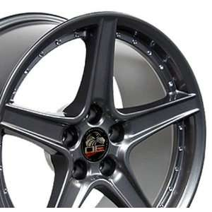Saleen Style Wheel with Rivets Fits Mustang (R)   Gunmetal18x10