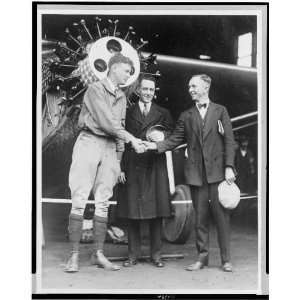 Charles Lindbergh,Clarence Chamberlin,Richard Byrd 1927
