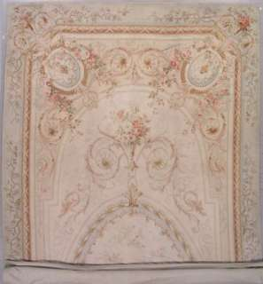 10x29 IVORY ANTIQUE 1890S FRENCH AUBUSSON HAND KNOTTED WOOL AREA RUG