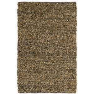 Short Brown Leather Shag 5x8 Rug with Free Shipping