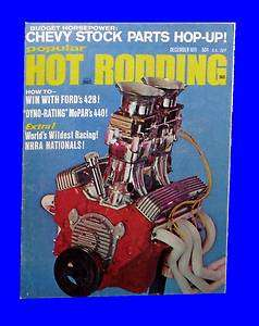 POPULAR HOT RODDING DEC 1971,MOPAR 440,NHRA NATIONAL,CHEVY,DECEMBER