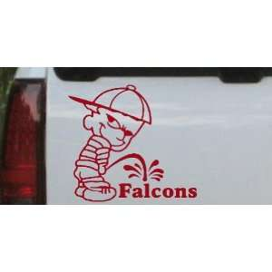 Pee On Falcons Car Window Wall Laptop Decal Sticker    Red