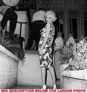 MARILYN MONROE BEAUTY IN FLOWER DRESS 1xRARE8x10 PHOTO