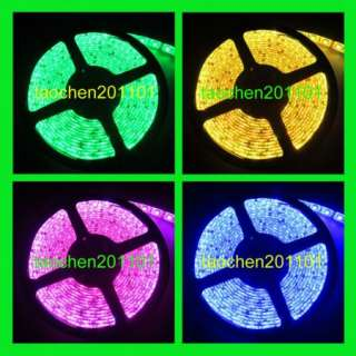 5050 SMD 5M 300 LED RGB flexible Strip Light Waterproof 12V + 44 Key