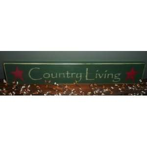 Rustic Shabby COUNTRY LIVING Wood Sign CHOOSE COLOR