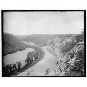 High banks,Genesee River,Mt. Morris,N.Y.