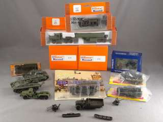 DTD   HO SCALE LOT   13 ROCO MINITANKS TANKS TRUCK MILITARY VEHICLES