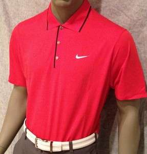 607) M 2012 Nike Tiger Woods Golf Tour Ultra Light Polo Shirt $95