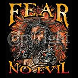 Fear No Evil SS T Shirts Christian Biker Motorcycle S