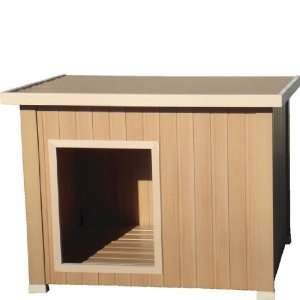 ecoConcepts Insulated Rustic Lodge Dog House Medium 32 x