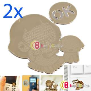 2X Cute Lovely Design Anti Radiation Protection Sticker for Cellphone