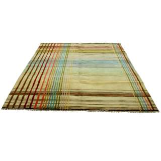 6ft x 9ft Jasper Indian Hand Knotted Wool Rug