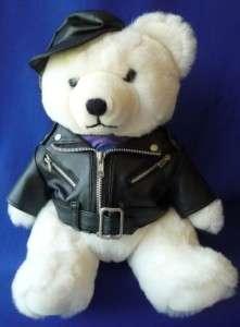 Stuffed Plush Animal HARD ROCK TEDDY BEAR Motorcycle