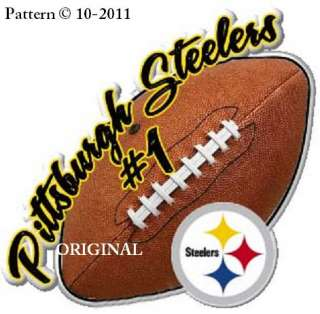 Pittsburgh Steelers Football Cross Stitch Pattern NFL TBB