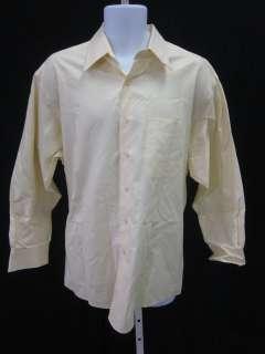 JOSEPH ABBOUD Mens Yellow White Cotton Shirt Sz 17