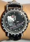 14400BLK Hello Kitty SANRIO White Angel on Black Face w/Black Watch