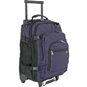 Rolling Wheeled Laptop/Notebook Backpack Bag Navy NEW