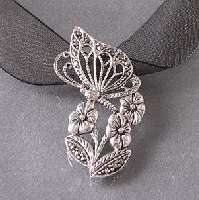 Cool Winged Flaming Heart Sterling Silver Pendant