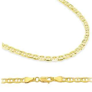 14k Yellow Gold Gucci Mariner Chain Necklace 1.7mm 24