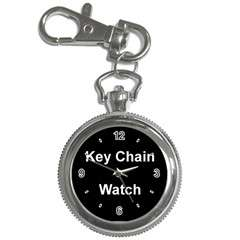 Silver tone high quality watch. The key chain watch casing measures
