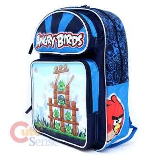 Birds Large School Backpack Lunch Bag Set  Attack 3D Lenticular Motion