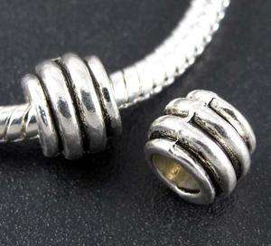 Wholesale 95p Tibetan Silver Big Hole Spacer Beads Fit Charm Bracelet