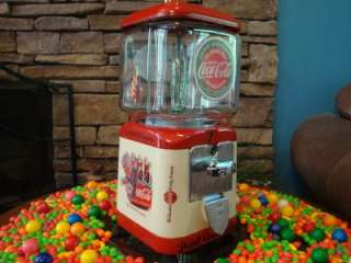 Oak *COCA COLA* Gumball & Candy Vending Machine Coke Signs