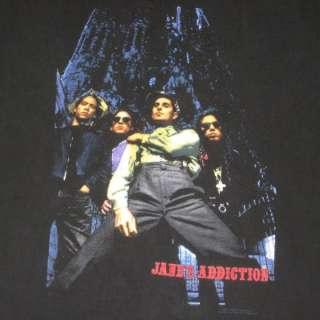 1990 JANES ADDICTION VTG TOUR T SHIRT W/ DATES JANES