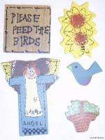 Pkgs.Garden Angel Wood Craft Lot Sets Sunflower Blue Bird Sign Basket