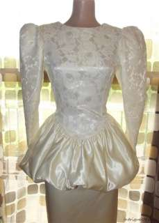 Peplum Satin Lace Wedding Dress Prom Gown Jessica McClintock