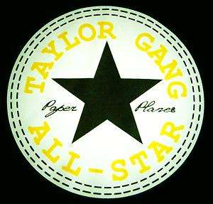 TAYLOR GANG ALL STAR Tee Shirt T SHIRT White & Yellow