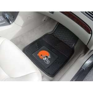 NFL Cleveland Browns 2 Piece Heavy Duty Vinyl Floor Car Mat Set with