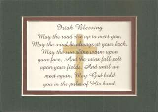 IRISH Blessing ENCOURAGE INSPIRE God Hold You in HIS HAND verses poems