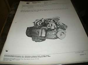 CUMMINS FORMULA 400 BIG CAM IV ENGINE SERVICE BULLETIN PACKET