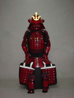 Collected Japanese Art red Samurai Armor wearable Suit