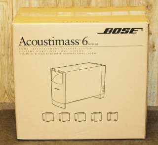 New & Sealed Bose Acoustimass 6 Series III (3) Speaker System