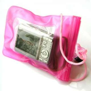 Waterproof Digital Camera Pouch Dry Bag Beach ski Pink